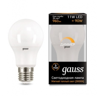 Диммируемая лампа Gauss LED A60-dim